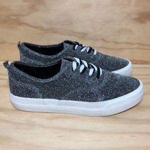 Bershka Silver Glitter Sneakers Size 40 (10)